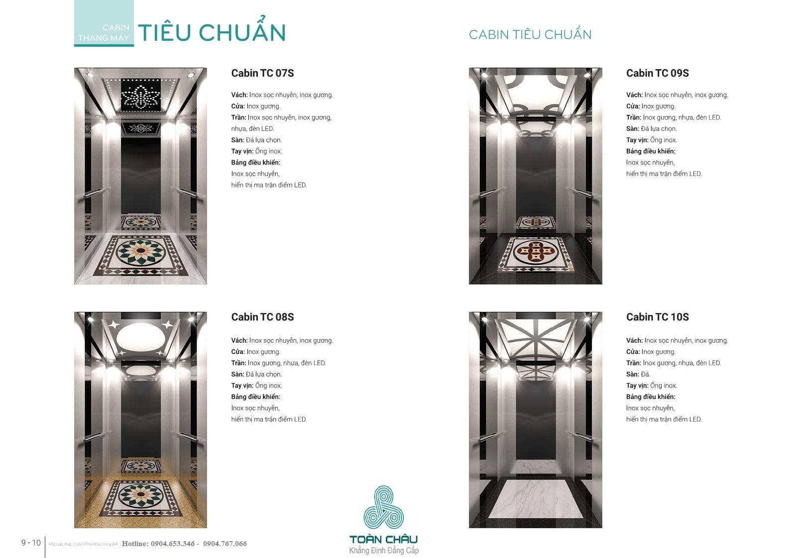 các mẫu cabin thang máy 2021 2022 mới nhất